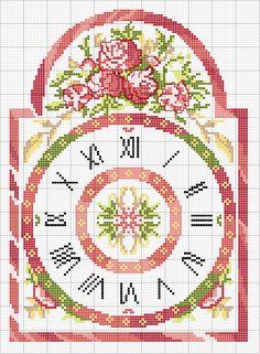 Schema punto croce Orologio 2