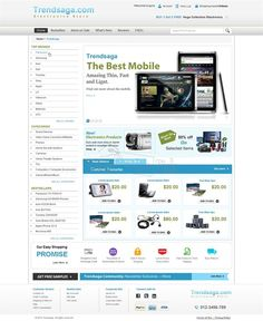 "E-commerce web design for ""TrendSaga.com"" from YourDesignPick."