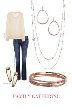 Yes! I want the whole outfit!  Goddess Teardrop Earrings, Beatrice Necklace, and Rhea Bangles by Stella & Dot