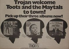 Toots And The Maytals ad, March 1976.