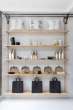 VM | Retail VM | Visual Merchandising | Home Adornment | Retail Design | simple clean modern retail shelf display: