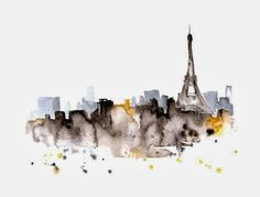 WATERCOLOR CITYSCAPE ILLUSTRATIONS BY ELENA ROMANOVA | 79 Ideas