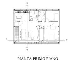 Pianta primo piano quotata mio progetto cad villetta for Piani a pianta aperta