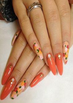 acrylic women beautiful nails design fashion