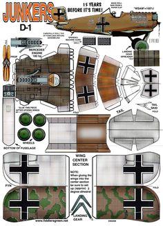 JUNKERS D-1 : Instruction http://www.fiddlersgreen.net/models/aircraft/Junker-D1.html