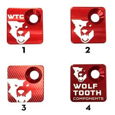Front Derailleur Mount Cover – Wolf Tooth Components Red Design, Tooth, Wolf, Bike, Cover, Bicycle, Wolves, Bicycles, Teeth