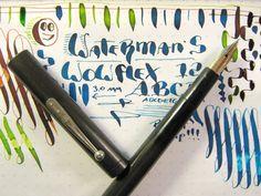 Waterman 12 Very Flex 14K Nib Clip Cap Eyedropper Fountain Pen vtg super Flexy #Waterman