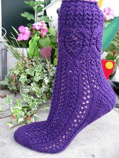 Ravelry: Socke / socks *Kunigunde* pattern by Birgit Freyer.  Would look good with ribbon criss-crossed through the back like a corset.