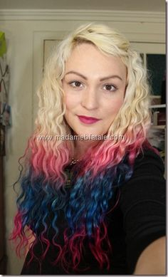 Triple Dip Dyed hair with matching dip dyed extensions -- Seriously loving your hair!