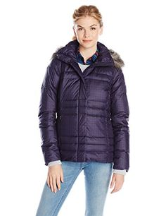 Water resistant Mercury Maven Iv Jacket for women with a removable faux-fur trim hood and interior security pocket.