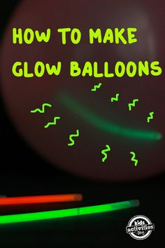 Things that Glow: Balloons with Glow Sticks. So much fun and they glow in the dark! Light Up Balloons, Balloon Glow, Led Balloons, Glow Stick Balloons, Glow Stick Party, Glow Sticks, Party Supply Store, Online Party Supplies, How To Make Drinks
