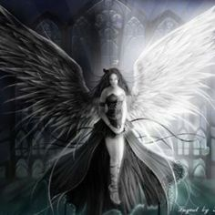 Dark Angel Or Dark Fairy Pictures Dark Angels, Angels And Demons, Light Vs Dark, Desenhos Harry Potter, Light Angel, Ange Demon, Angel And Devil, Beautiful Fairies, Dark Fantasy Art