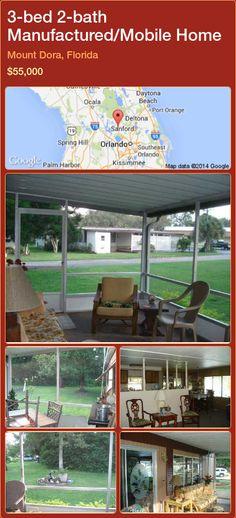 3-bed 2-bath Manufactured/Mobile Home in Mount Dora, Florida ►$55,000 #PropertyForSaleFlorida http://florida-magic.com/properties/32991-manufactured-mobile-home-for-sale-in-mount-dora-florida-with-3-bedroom-2-bathroom