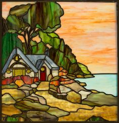 Dream Home by The Sea Original Stained Glass Panel | eBay
