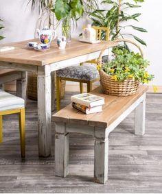 Banco Recuperado El Cortijo  #bancodemadera #banqueta #bancodecocina #rustico #rusticdecor Table, Furniture, Home Decor, Rustic Bench, Wood Planks, Solid Wood, Reclaimed Wood Benches, Kitchen Benches, Antique Wood