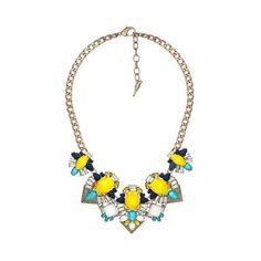 Limoncello Statement Necklace Set | Chloe + Isabel ($138) ❤ liked on Polyvore featuring jewelry, necklaces, chloe isabel jewelry and statement bracelet