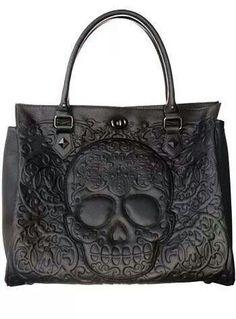 e04e231a76df Skull bag Leather Purses