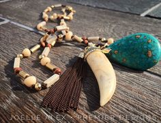 #PremierDesignsJewelry RUSTIC DIVA: With three removable and very unique tassel and pendant components, this beaded necklace lets you mix, match, and create your own looks. (Page 105) of the digital catalog ... maridemint.mypremierdesigns.com #pdlife #pdstyle