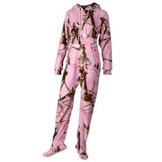 Camo adult onesie probably the only onesie I'll wear Camo Fashion, Girl Fashion, Camo Swimwear, Camo Lingerie, Pink Camouflage, Women's Camo, Country Girls Outfits, Camo Outfits, Camo Baby Stuff