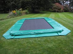 installed swimming pool trampoline | Inground Trampolines | Trampoline Parts Place