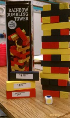 Made another Math Center Activity...Jumbling Towers Division Edition. :) Kids love it!