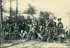 Soldiers of the Estonian Army with Maxim Machine guns, Russian Revolution 1917, Interwar Period, German Uniforms, Red Army, Knights Templar, First World, World War, Military, Machine Guns