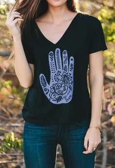 The meaning of henna on the back of a hand is to shield and protect. When you buy this shirt you're providing exactly that to young girls in India who are at risk of being abandoned or killed. #Sevenly