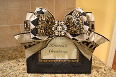 Elegant Black And Gold Ribbon Frame. $30.00, via Etsy.