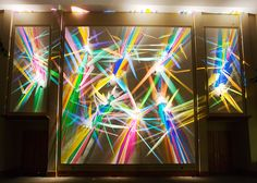 Though it may be hard to believe, no paint was used in these sculptural installations. Instead, Stephen Knapp is the artist behind lightpaintings - artworks created entirely with just refracted white light and glass.