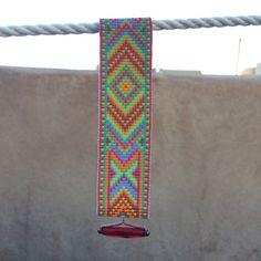 Carnivale Bead Loom armband Boheemse Boho Chic door PuebloAndCo