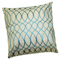 Set of two cotton pillows with feather-down fill and a scrolling lattice motif.   Product: Set of 2 pillowsConstruction ...