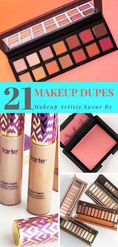 Best makeup dupes recommended by makeup artists - drugstore makeup dupes for brands like YSL, Urban Decay, Too Faced,Kat Von D,Giorgio Armani, Hourglass,MAC, Bobbi Brown,Anastasia Beverly Hills, Benefit, Dior,Tarte, etc. Drugstore dupes for high end makeup.