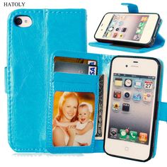 Leather Case For iPhone 4s 4 inch Flip Book Fundas Wallet with Card Holder Hybrid Full Protective Accessories Stand Cover 4G # #>=#>=#>=#>=#> Click on the pin to check out discount price, color, size, shipping, etc. Save and like it!