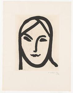 Women In Art History — Figure aux bandeaux, Henri Matisse Henri Matisse, Matisse Drawing, Minimal Art, Art Minimaliste, Grafik Design, Face Art, Line Drawing, Oeuvre D'art, Impressionism