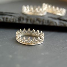 There is no queen without a crown silver ring by lunaticart, €39.00