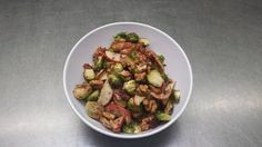 Super yummy and healthy Brussels sprouts (with apples, walnuts, and pomegranate vinegar)