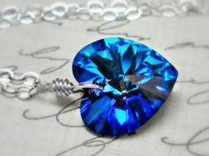 Blue Velvet   Swarovski Crystal Sterling by ClassicKeepsakes