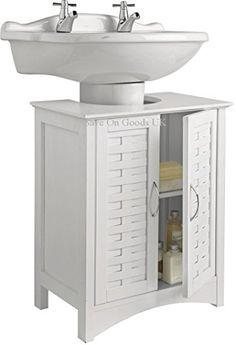 Bathroom Under Sink Cabinet white under sink bathroom storage cabinet: amazon.co.uk: kitchen
