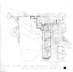 Design of Details: Frank Lloyd Wright's Affleck House | Sara Horn | Archinect Frank Lloyd Wright Buildings, Frank Lloyd Wright Homes, House Sketch Design, House Design, Usonian House, Falling Water House, House Drawing, Architecture Drawings, Technical Drawing