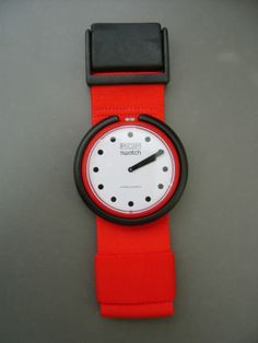 """New Old Stock Vintage Swatch Pop Watch BR001 """"Fire Signal"""" 1986"""