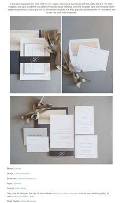 洗練されたシンプルが目を引くウエディングペーパーアイテムデザイン | Weddingcard.jp