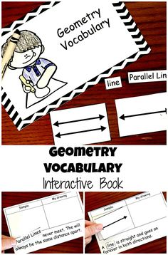 This free interactive book is perfect for helping your children learn geometry vocabulary for lines, rays, line segments, and parallel lines.