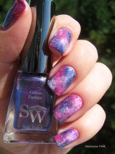 #design #Ногти #nail #nails #nailart #Маникюр #Идея_для_маникюра #sw #swetcolorfashion #фиолетовый #purple #космос  #вселенная  #галактика #space #universe #galaxy