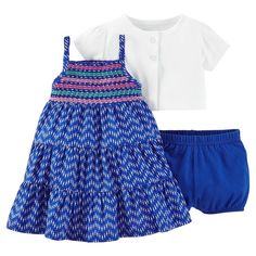 Just One YouMade by Carter's Baby Girls' 2 Piece Dress Set - Bright Blue