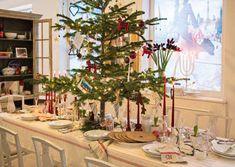 Swedish-American Caroline Henderson's Christmas table.