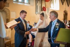 Father of bride gives her hand in marriage at traditional Christian church of England wedding. Photographs by one thousand words wedding photography. Church Wedding Ceremony, One Thousand, Church Of England, Christian Church, Photographs, Father, Marriage, Wedding Photography, Traditional