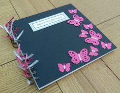 Butterfly Swarm Personalised Guest Book / Birthday Party Photo Memory Album Scrapbook on Etsy, £12.49