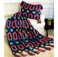 Vintage Crochet Pattern Granny Square Juwelen von 2ndlookvintage