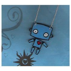 DIY kawaii ROBOT LOVE scene necklace - Virb found on Polyvore