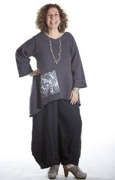 Cozy Crinkle Tunic Printed : Blue Fish Clothing